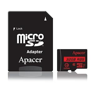 Памет Apacer 32GB MicroSDHC UHS-I U1 Class10 R85 w/ 1 Adapter RP
