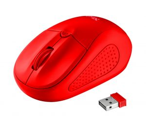 Мишка TRUST Primo Wireless Mouse - Red