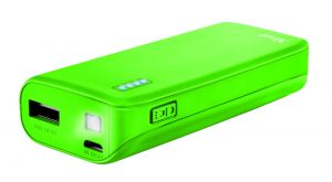 Външна батерия TRUST Primo Power Bank 4400 Portable Charger - Lime