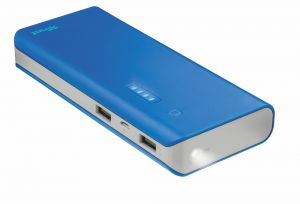 Външна батерия TRUST Primo Power Bank 10000 - blue