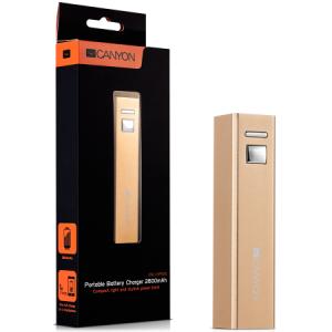 Външна батерия CANYON 2600mAh CNE-CSPB26GO