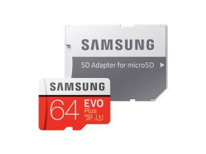 Памет Samsung 64GB micro SD Card EVO+ with Adapter