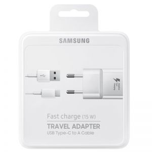 Адаптер, Samsung Fast charge Wall charger (15W, USB Type-C)