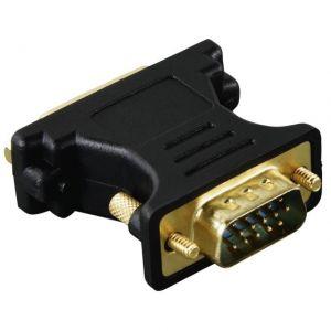 Адаптер Hama VGA мъжко - DVI женско, Позлатени конектори, 3 звезди